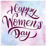 Happy Women`s Day Greeting Cards. 8 March lettering. Banner for the International Women`s Day. Happy Women`s Day Greeting Cards. 8 March lettering. Banner for Royalty Free Stock Photography