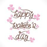 Happy women's day greeting design Stock Photo