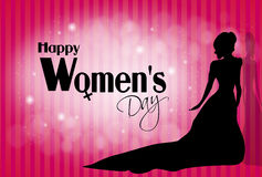 Happy Women's day. Illustration of happy womens day greeting card royalty free illustration