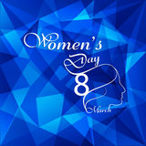 Happy Women's Day for lady face colorful polygon texture Stock Photography