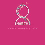 Happy women`s day. Lovely card for th ewoman`s Day royalty free illustration
