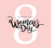 Happy Women`s Day. 8 March, Happy Women`s Day Royalty Free Stock Photography