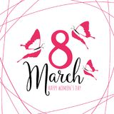 Happy Women`s Day 8 March stock illustration