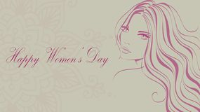 Happy Women`s day, 8 March stock illustration