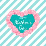 Happy Women`s day poster or banner for Mother`s day holiday royalty free illustration