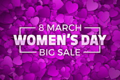 Happy Women`s Day Sale Vector Illustration Stock Image