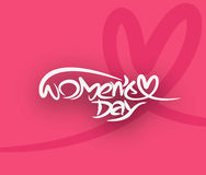 Happy women`s day stylish typography text Royalty Free Stock Photos