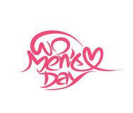 Happy women`s day stylish typography text Stock Photo