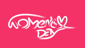 Happy women`s day stylish typography text Stock Images