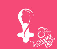 Happy women`s day stylish typography text Stock Photos