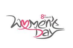 Happy women`s day stylish typography text Royalty Free Stock Photos