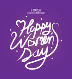 Happy Women`s Day text as International Womens Day. Stock Photo