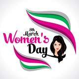 Happy Women`s Day Text Background Stock Image