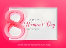 Happy women`s day 8th march celebration background. Illustration Royalty Free Stock Photo