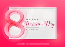 Happy women`s day 8th march celebration background. Illustration royalty free illustration