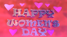 Happy Women's Day Typography Logo Design Stock Photography