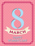 Happy Women`s Day vector background. Stock Images