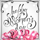 Happy Women`s Day. Vector Greeting Card. The 8th of March Royalty Free Stock Image