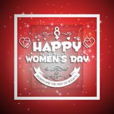 Happy Women\'s day vintage design vector. For web design and application interface, also useful for infographics. Vector illustration royalty free illustration