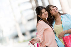 Happy women shopping Royalty Free Stock Image