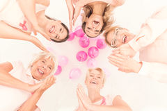 Happy women standing together Stock Photos