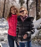 Happy women in winter Stock Photography