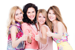 Free Happy Women With Thumbs Up Sign. Stock Photography - 45058132