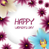 Happy womens day border lillac flower orchid Royalty Free Stock Photography