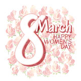 Happy Womens Day card Stock Images