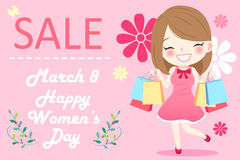 Happy womens day Royalty Free Stock Image