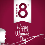 Happy womens day design Stock Photography