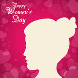 Happy womens day design Royalty Free Stock Images