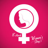 Happy womens day design Royalty Free Stock Photography