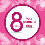 Happy womens day design Stock Photos