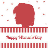 Happy womens day design Royalty Free Stock Photo