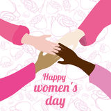 Happy womens day design Stock Image