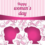 Happy womens day design Royalty Free Stock Photos