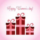 Happy womens day design Royalty Free Stock Image