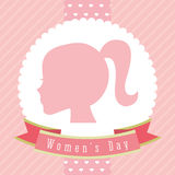 Happy womens day. Design, vector illustration eps10 graphic Stock Photography