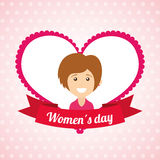 Happy womens day. Design, vector illustration eps10 graphic Royalty Free Stock Image