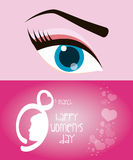 Happy womens day eight march eye girl. Illustration eps 10 Royalty Free Stock Images