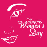 happy womens day girl face promotional Stock Photography