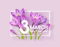 Happy womens day greeting card Royalty Free Stock Photos