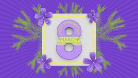 Free Happy Womens Day Greetings 3d Rendering Royalty Free Stock Images - 113640059