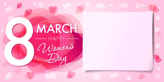 Happy Womens day 8 march banner Royalty Free Stock Photography