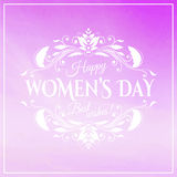 Happy Womens Day. 8 March on unfocused floral royalty free illustration