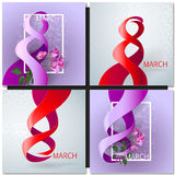 Happy Womens Day Paper Design Royalty Free Stock Photography