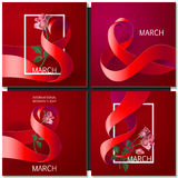 Happy Womens Day Paper Design Stock Image