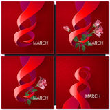 Happy Womens Day Paper Design Stock Photography