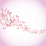 Happy womens day poster pink butterfly background Royalty Free Stock Photography